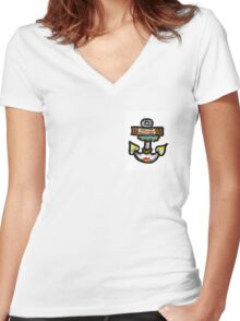 Anchor ahoy Women's Fitted V-Neck T-Shirt