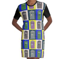 TIMEY WIMEY WARHOL TARDIS 2 Graphic T-Shirt Dress
