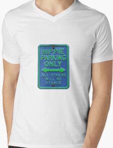 Hippie Parking Only Mens V-Neck T-Shirt