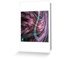 Colorful Swirl - Abstract Fractal Artwork Greeting Card