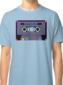 Retro Music Mix, Cassete neon Classic T-Shirt