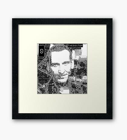 9th doctor word art Framed Print