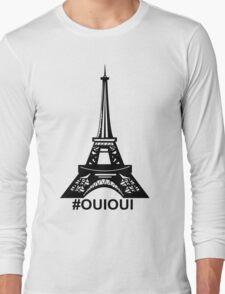 Eiffiel Tower #OuiOui Long Sleeve T-Shirt