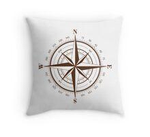 True North Compass Throw Pillow
