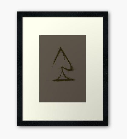 A Spade Framed Print