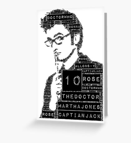 10th doctor Greeting Card