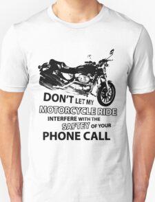 Custom Motorcycle Black Unisex T-Shirt