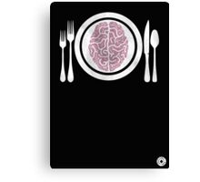 Brains for Dinner Canvas Print