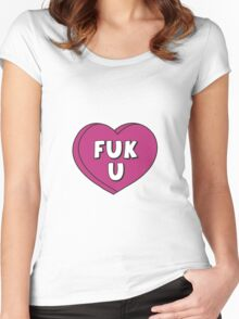 FUK U Women's Fitted Scoop T-Shirt