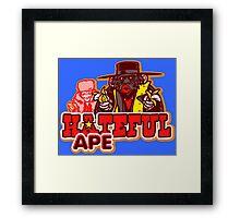 Hateful Ape Framed Print