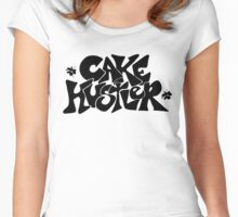 Cake Hustler : black letters Women's Fitted Scoop T-Shirt