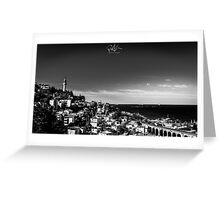 The lighthouse of Trieste Greeting Card