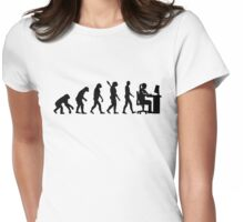 Evolution female graphic artist Womens Fitted T-Shirt