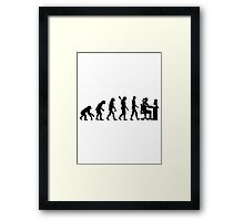 Evolution female graphic artist Framed Print