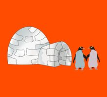 Pastel Penguins and Igloo Kids Clothes