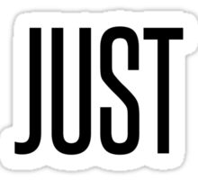 I Just Ride. Sticker