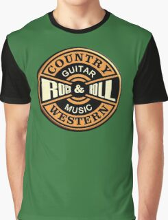 Country Western Rock&roll Graphic T-Shirt