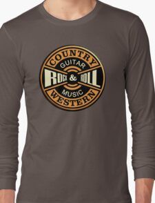 Country Western Rock&roll Long Sleeve T-Shirt
