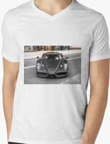 Full Carbon Fiber Ferrari Enzo  Mens V-Neck T-Shirt