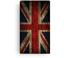 UK Flag - Wood Canvas Print