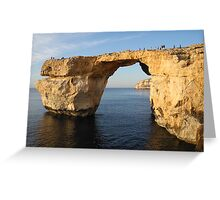 Azure Window, Gozo, Malta Greeting Card