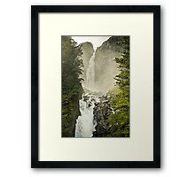 Misty Falls Framed Print