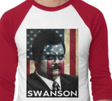 America Swanson - 4th of July Men's Baseball ¾ T-Shirt