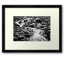 Rock Stream Framed Print