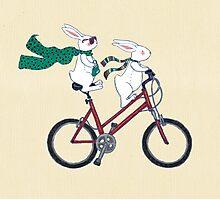 biking bunnies  Photographic Print