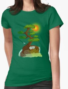 Night and day Womens Fitted T-Shirt