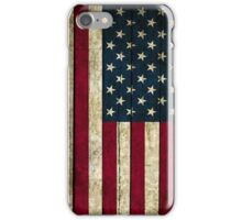 USA Flag - Wood iPhone Case/Skin