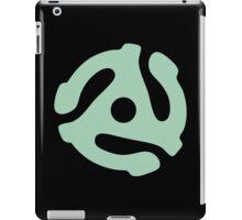 vinyl record green adapter iPad Case/Skin