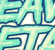 HEAVY METAL! ( Green Splatter Typo Design ) Sticker