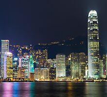 Hong Kong by Night  by Shaun Jeffers Photography