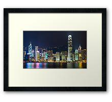 Hong Kong by Night  Framed Print