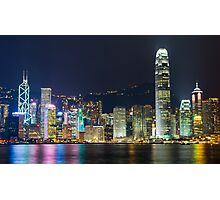 Hong Kong by Night  Photographic Print