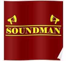 Soundman yellow Poster