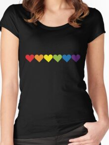 Pride Hearts Women's Fitted Scoop T-Shirt