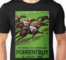 Vintage horse racing sport and travel advert Unisex T-Shirt