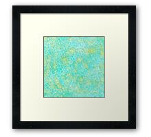 Green and Blue texture Framed Print