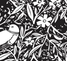 Black and White Sketch Bird Background Sticker