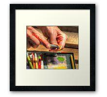 Artist Sharpening Color pencil Framed Print