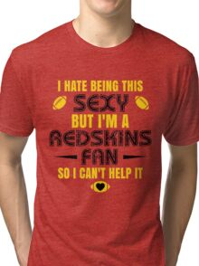 Redskins Fan Girl Quote Tri-blend T-Shirt