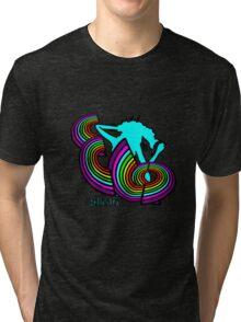 ELO Glastonbury 2016 unigrid rainbow Logo Tri-blend T-Shirt