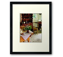 Wildflowers on Kitchen Table Framed Print