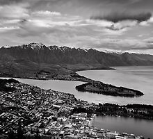 Monochrome Queenstown by Shaun Jeffers Photography