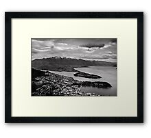 Monochrome Queenstown Framed Print