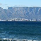 Bloubergstrand and Table Mountain by Elizabeth Kendall