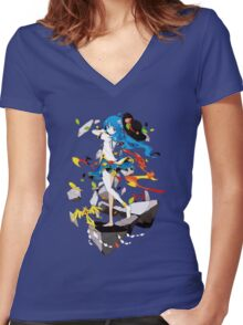 Touhou - Tenshi Hinanai Women's Fitted V-Neck T-Shirt