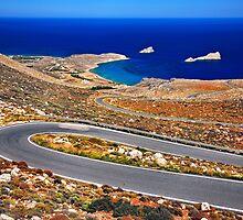 The road to Xerokambos - Crete by Hercules Milas